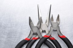 Electrical tools wire cutter, pliers Stock Images