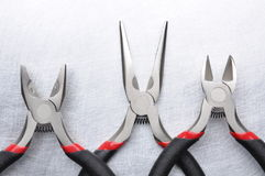 Electrical tools wire cutter, pliers Stock Photography