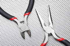 Electrical tools wire cutter, pliers Stock Image