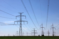 Electrical tower. Many electrical towers in czech republic Royalty Free Stock Photography