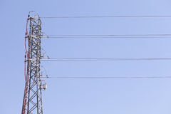 Electrical tower. A electrical tower of high voltage Stock Photography