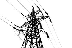 Electrical tower. On white background Stock Photo