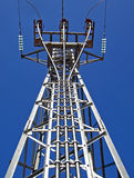 Electrical Tower. Details of an electrical tower used to distribute electricity Stock Image