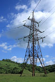 Electrical tower. Big electrical tower on meadow Stock Photography