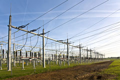 Electrical Tower And Transformation Station Stock Images