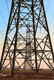 Electrical tower in beautiful landscape Royalty Free Stock Photos