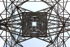 ELECTRICAL TOWER ON A BLUE SKY Stock Images