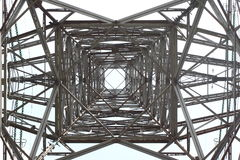 ELECTRICAL TOWER ON A BLUE SKY.  royalty free stock photo