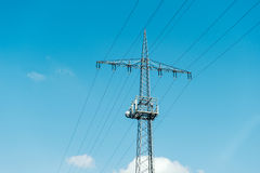 Electrical tower current mast with telecomunication antennaa Stock Photography