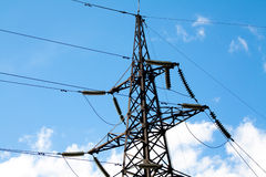 Electrical tower - excellent metal construction. Electricity is a engine of human society. We use it everyday Stock Photography