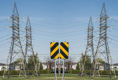 Electrical tower montage Stock Photos