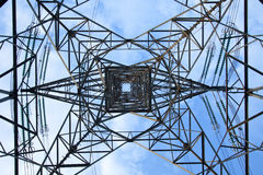 Electrical tower over a blue sky background Stock Images