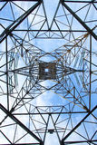 Electrical tower over a blue sky background Royalty Free Stock Images