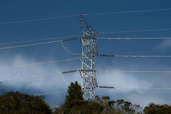Electrical tower. Picture of a Electrical Tower royalty free stock photos