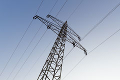 Electrical tower with power supply Royalty Free Stock Images