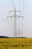 Electrical tower with power supply Royalty Free Stock Image