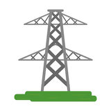 Electrical tower transmission energy power. Vector illustration eps 10 stock illustration