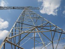 Electrical tower without wires Stock Photo