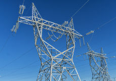 Electrical Tower & Wires Royalty Free Stock Photo