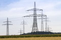Electrical towers Royalty Free Stock Photo