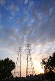 Electrical Towers On Big Sky Stock Photos