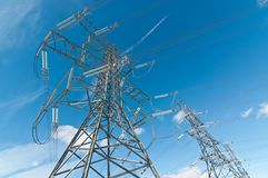 Electrical Towers (Electricity Pylons) Royalty Free Stock Photo