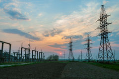 Electrical towers Posts Stock Photos
