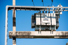 Electrical transformer in data room Stock Photos