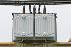 Electrical transformer station Stock Image