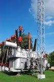 Electrical transformer substation Royalty Free Stock Photos