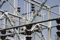 Electrical transformer yard equipment Royalty Free Stock Image