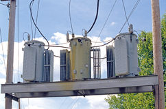 Electrical transformers Stock Image