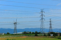 Electrical transmission line Stock Image