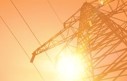 Electrical Transmission Line Royalty Free Stock Photo