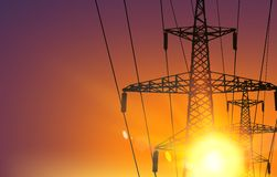 Electrical Transmission Line Royalty Free Stock Images
