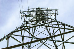 Electrical transmission line support Stock Photos