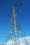 Electrical Transmission Tower. Tall steel hydro electric transmission tower stock images