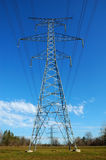 Electrical Transmission Tower. Tall steel hydro electric transmission tower royalty free stock photos