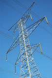 Electrical Transmission Tower. Tall steel hydro electric transmission tower royalty free stock image