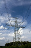 Electrical transmission tower Royalty Free Stock Images