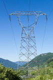 Electrical transmission tower to support power lines Royalty Free Stock Photography