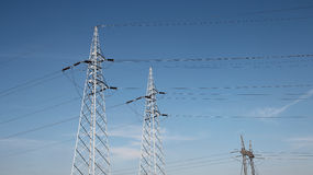 Electrical Transmission Towers Stock Images