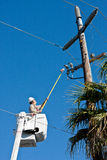 Electrical Utility Worker Stock Photos