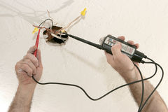 Electrical Voltage 120V Royalty Free Stock Photos