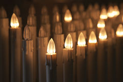 Electrical votive candles. Set of electric votive candles stock photo
