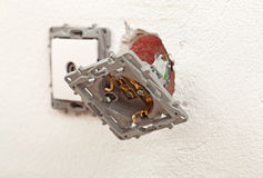 Electrical wall outlets or sockets Stock Photos