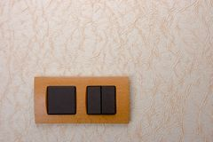 Electrical wall switch Stock Photography