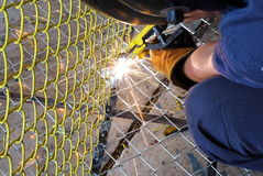 Electrical welding skill Stock Photo