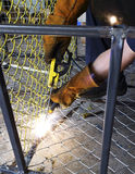 Electrical welding work Stock Image