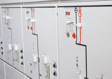Electrical white control panel photo image Royalty Free Stock Images